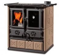 Дровяная отопительно-варочная печь La Nordica ROSETTA MAIOLICA BO/TO (кухонная печь Розетта)
