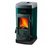 Дровяная печь La Nordica SUPER MAX черный/зеленый (печь-камин Супер Макс)