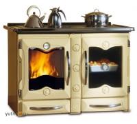 Дровяная отопительно-варочная печь La Nordica America Crema (кухонная печь Америка Крема)