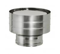 Дефлектор на трубу дымохода с изоляцией Дымок 120/200 мм (0,5 мм)