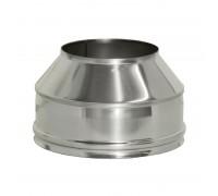 Конус на трубу дымохода с изоляцией Дымок 200/280 мм (0,5 мм)