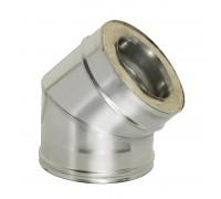 Отвод 45° с изоляцией Дымок для дымохода 120/200 мм (0,5 мм)