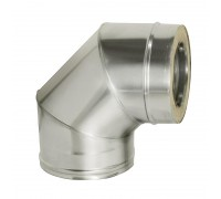 Отвод 90° с изоляцией Дымок для дымохода 120/200 мм (0,5 мм)