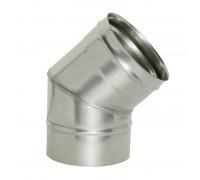 Отвод 45º без изоляции Дымок для дымохода 150 мм (0,5 мм)