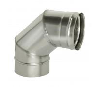 Отвод 90º без изоляции Дымок для дымохода 115 мм (0,5 мм)