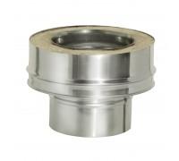 Переходник моно-термо с изоляцией Дымок для дымохода 120/200 мм (0,5 мм)