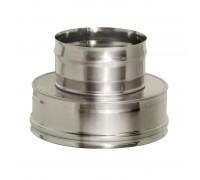 Переходник термо-моно с изоляцией Дымок для дымохода 120/200 мм (0,8 мм)