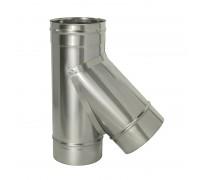 Тройник 45º без изоляции Дымок для дымохода 120 мм (0,5 мм)