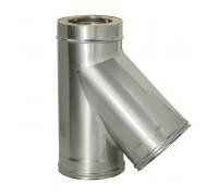 Тройник 45° с изоляцией Дымок для дымохода 120/200 мм (0,8 мм)
