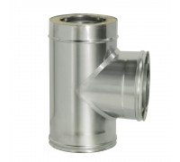 Тройник 90° с изоляцией Дымок для дымохода 200/280 мм (0,5 мм)