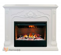 Каминокомплект Виктория 3Д Гелиос 26 (портал RealFlame Victoria WT + очаг 3D Helios 26)