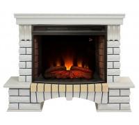 Каминокомплект Кантри 33 белый (портал RealFlame Country 33 WT + Firespace 33/33W S IR)