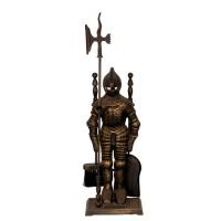Каминный набор Royal Flame T50010AGK Рыцарь (черный/золотая патина)
