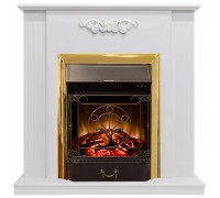 Каминокомплект Капри СТД белый (портал Capri + очаг Royal Flame Fobos / Majestic)