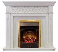 Каминокомплект Александрия СТД белый дуб (портал Royal Flame Alexandria White + Fobos / Majestic)