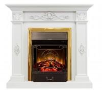 Каминокомплект Дерби белый дуб (портал Royal Flame Derby White + очаг Fobos/Majestic)