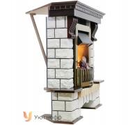 Угловой каминокомплект Пьер Люкс (портал Pierre Luxe Corner + очаг Dimplex Opti-myst 3D)