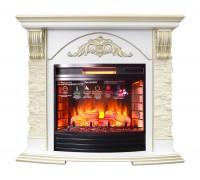 Каминокомплект Лондон Люкс 25 (портал London Luxe 25 + очаг Firefield 25, Panoramic 25, Dioramic 25)