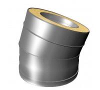 Отвод 15º с изоляцией Вулкан V50R для дымохода 100 мм (0.5 мм)