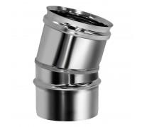 Отвод 15º без изоляции Вулкан для дымохода 250 мм (0.5 мм)