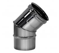 Отвод 45º без изоляции Вулкан для дымохода 150 мм (0.5 мм)