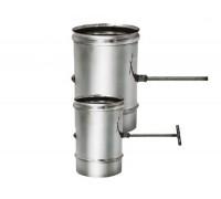 Задвижка без изоляции Вулкан для дымохода D 180 мм (0.5 мм)