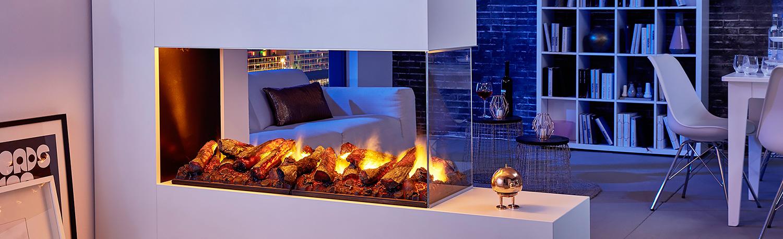 Электрические камины с 3D эффектом живого пламени